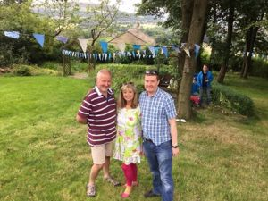 Greg (Left) with Iain and Yvonne